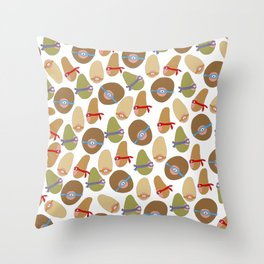 Ninja Boobs Throw Pillow