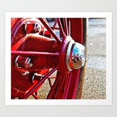 Spoked wheel Art Print