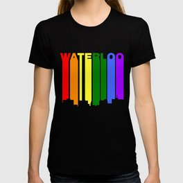 Waterloo Iowa Gay Pride Rainbow Skyline T-shirt