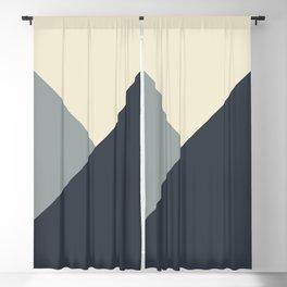Origami Geo Tile // Gray monochrome Blackout Curtain