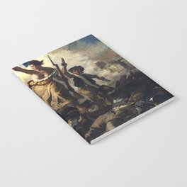 Liberty Leading the People Painting by Eugène Delacroix Notebook