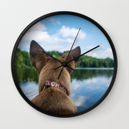 Dog by Lesly Juarez Wall Clock