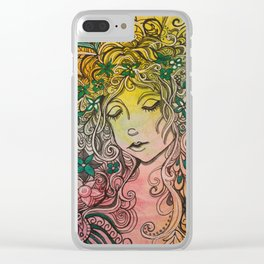 hippie tangles Clear iPhone Case