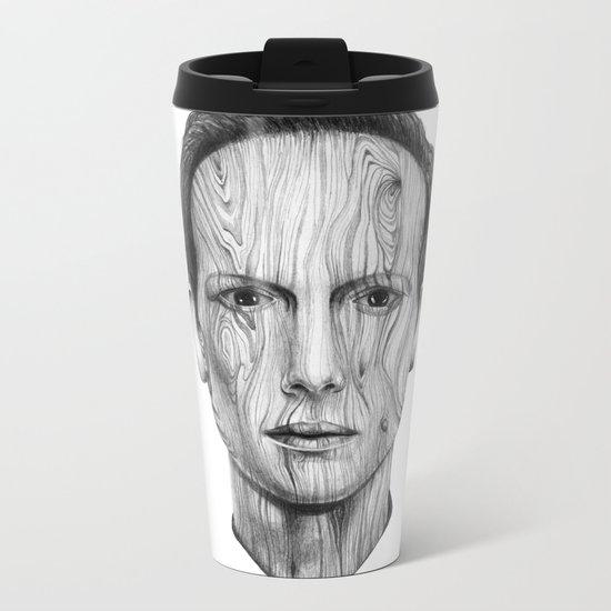 Wood Man Metal Travel Mug