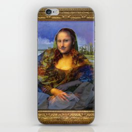 Mona (Kevin) Lisa : Satire + Contemporary Fine Art iPhone Skin