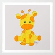 Giraffita  Art Print