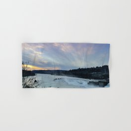 A CHILLY WINTER WILLAMETTE FALLS SUNSET Hand & Bath Towel