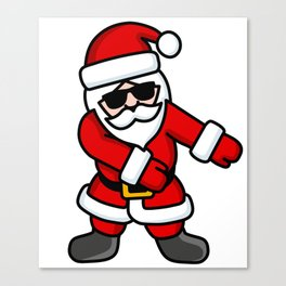 Floss dance Flossing Santa Claus Christmas Floss like a boss Canvas Print