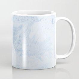 Marble suminagashi pastel blue minimal marbling spilled ink japanese decor Coffee Mug