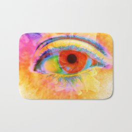 Eye In Bloom Bath Mat