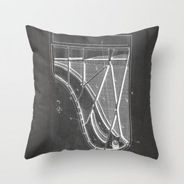 Steinway Piano Patent - Piano Player Art - Black Chalkboard Throw Pillow