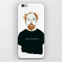 louis ck iPhone & iPod Skins featuring Louis CK… I was an awkard kid… quote by suPmön
