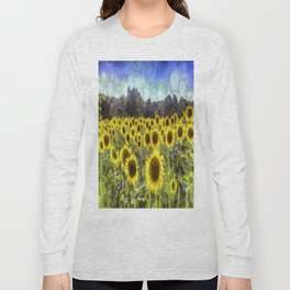 Sunflower Fields Of Dreams Art Long Sleeve T-shirt