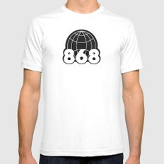 The 868 Collective - Vintage Mens Fitted Tee White SMALL