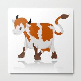 Cartoon cow Metal Print