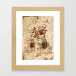 Vintage Map of The British Isles (1600) Framed Art Print