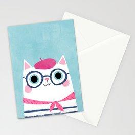 Ooh la la! Antoinette the Parisian cat Stationery Cards