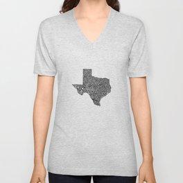 Typographic Texas Unisex V-Neck