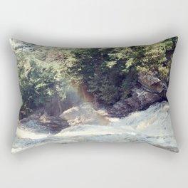 a rainbow at the falls Rectangular Pillow