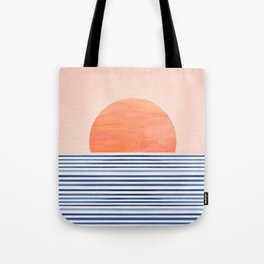 Summer Sunrise - Minimal Abstract Tote Bag