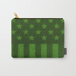 The grass and stripes / 3D render of USA flag grown from grass Carry-All Pouch