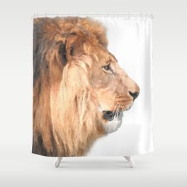 Lion Profile Shower Curtain