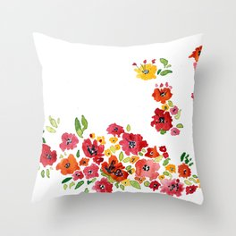 the daily creative project: romantic flowers Throw Pillow
