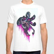 Octopie SMALL White Mens Fitted Tee
