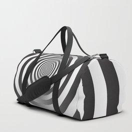 Black & White Hypnotic Spiral Duffle Bag