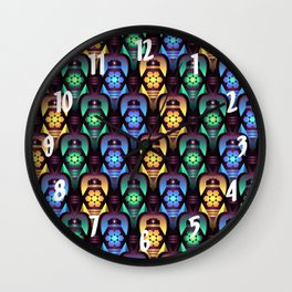 Colorful Moroccan Lanterns Pattern Wall Clock