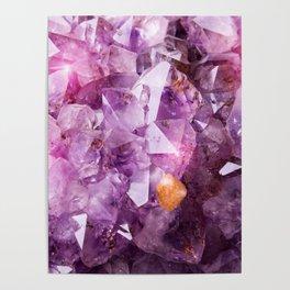 Violet Purple Amethyst Crystal Poster