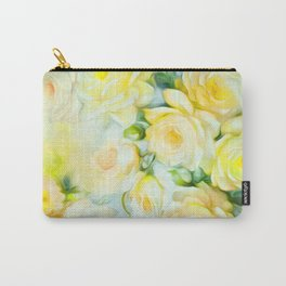 Shabby Chic Yellow Carry-All Pouch