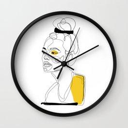 Yellow Sketch Wall Clock
