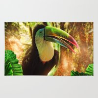 toucan Area & Throw Rugs featuring Toucan by MG-Studio