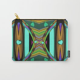 Heart Land on Teal,Gold,Black,Pink,Aqua,Purple Carry-All Pouch