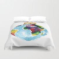 globe Duvet Covers featuring Globe Bauble by Bridget Davidson