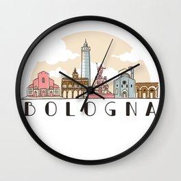 Bologna skyline - Italy Wall Clock