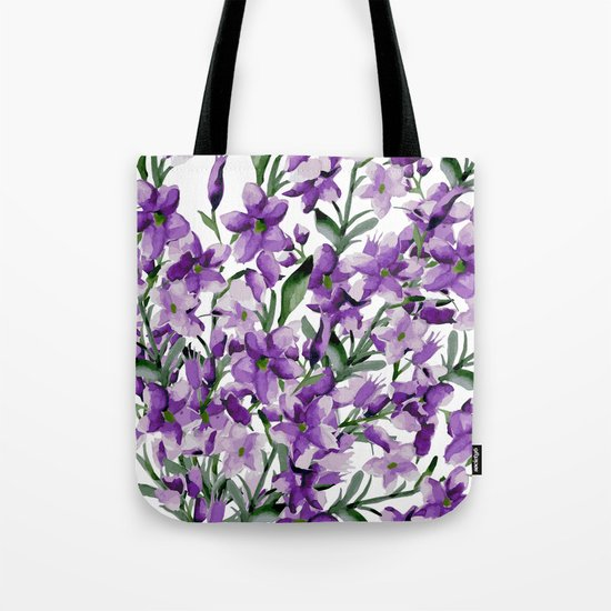 Lilac. Watercolor Tote Bag