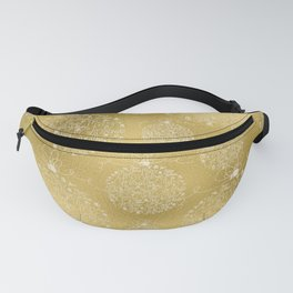 Merry christmas- christmas balls on gold pattern Fanny Pack