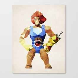 Polygon Heroes - Lion-O Canvas Print
