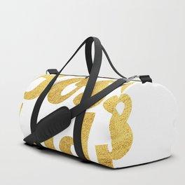 Boss Lady in Cursive Gold Duffle Bag