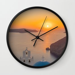 Three Bells Santorini Wall Clock