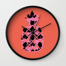 Punk'd Pineapple Wall Clock