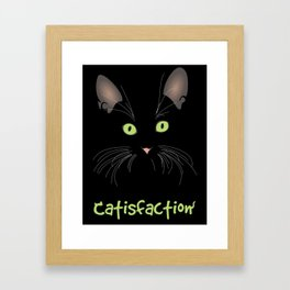 Catisfaction Framed Art Print