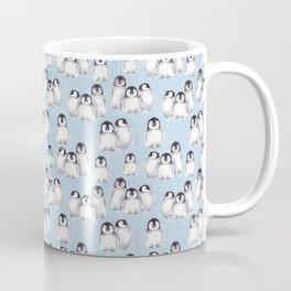 Penguin pattern on blue Coffee Mug