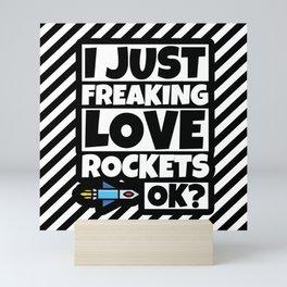 Rocket Lover Funny Rocket Science Humor Gift Mini Art Print