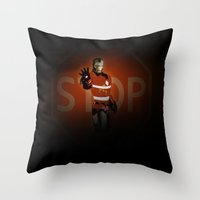 community Throw Pillows featuring community services by Radio