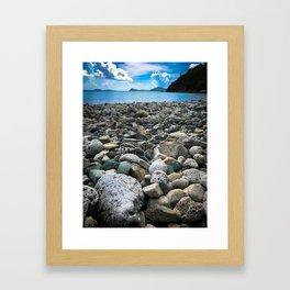 Coral Beach Framed Art Print