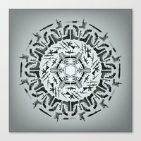 weapons of mass creation Canvas Prints featuring Weapons of Mass Destruction - Print by Siggeir M. Hafsteinsson