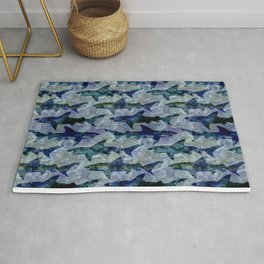 Deep Water Sharks Rug